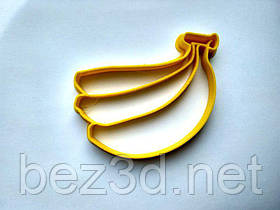 """3D формочки-вырубки для пряников""""Бананы"""""""