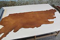 Юфть шорно-седельная орехового цвета, толщина 2.5 мм, арт. СК 1414