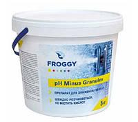 Химия для бассейнов Froggy рН- Minus Granules (гранулы) 5 кг - Препарат для понижения уровня рН