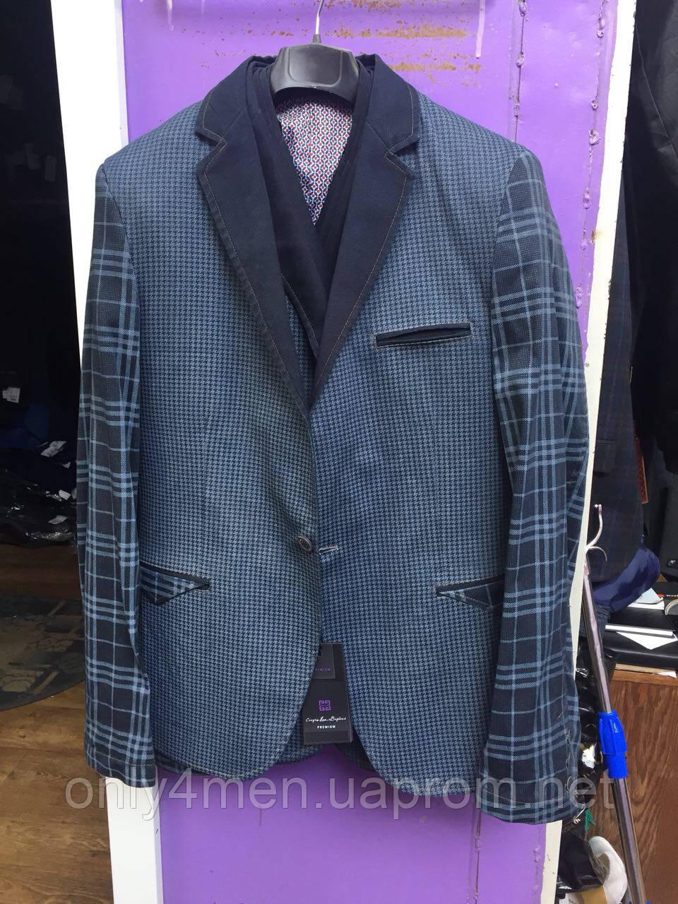 Пиджак  молодежный, комбинированный,  46-56