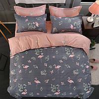 Постельное белье семейный комплект двуспальный евро Flamingo Berni