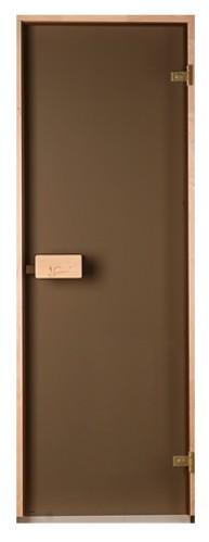 Двери для сауны и бани Saunax Classic (бронза)70*190