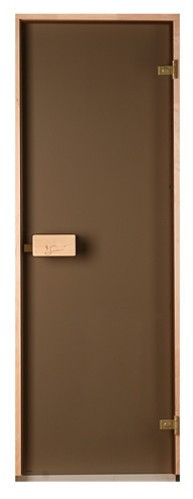 Двери для сауны и бани Saunax Classic (матовая бронза)80*200