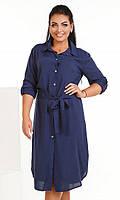 Платье Синие Лето 50-52,54-56
