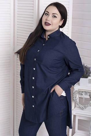 0585062169c Джинсовая женская рубашка больших размеров Фактор  950 грн. Купить в ...