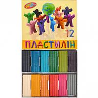 Дитячий для ліплення пластилін 12 кольорів