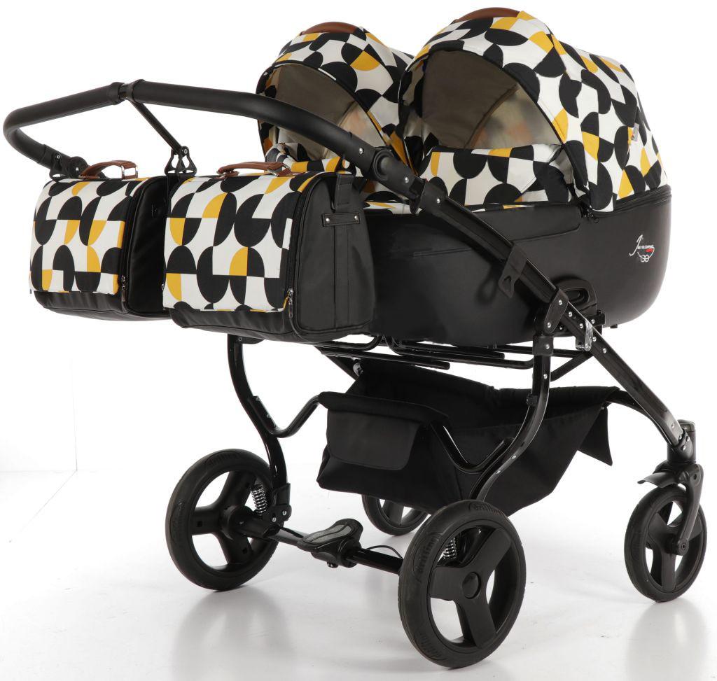 Дитяча коляска для двійні Junama Duo PacMan
