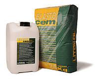 Litokol ELASTOCEM A+B (24 кг+8 кг) 32 кг - Двухкомпонентная эластичная гидроизоляция (ELST0024/ELST0008)