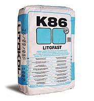 Litokol LITOFAST K86 - цементный клей быстрого схватывания 25 кг ( K860025 )