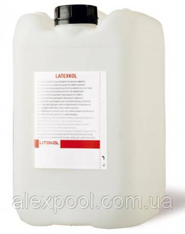 Litokol LATEXKOL 5 кг - высокоэластичная латексная добавка для цементных клеев  ( LTX0005 )
