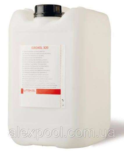 Litokol IDROKOL X20 10 кг Эластичная латексная добавка для цементных растворов для адгезии ( X200010 )