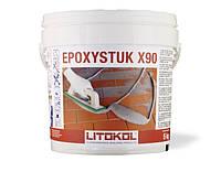 Litokol EPOXYSTUK X90 - эпоксидный состав для укладки всех видов плитки и затирки швов ширинойот 3 до10 10 кг