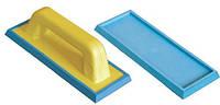 Шпатель затирочный со сменной мягкой голубой резиной. (9,5x24,5 см) 13695x245C  , фото 1