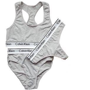 cd5d43822fe95 Женский набор топ + слипы + стринги Calvin Klein: продажа, цена в ...