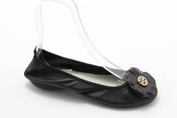 Черные кожаные  балетки Polaris 8(6635-01)