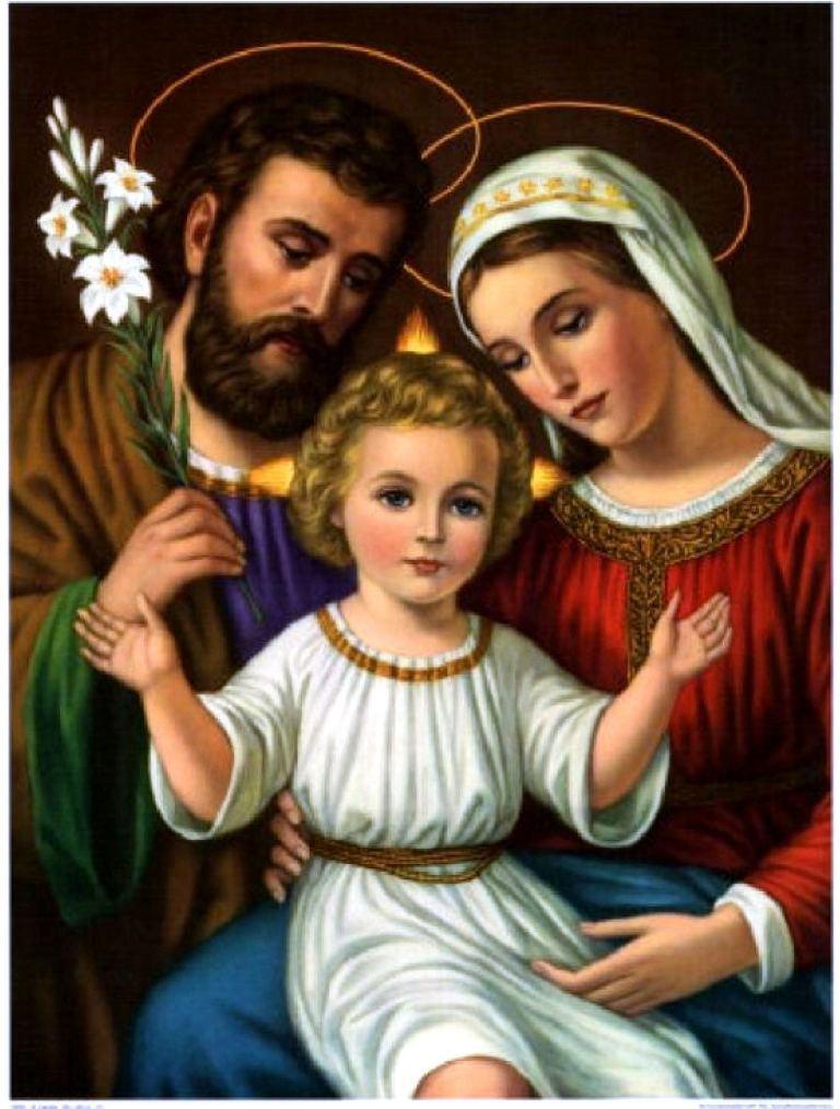 """Алмазная вышивка 60х46см - набор """"Святая семья"""" Картина Св. Иосифа"""