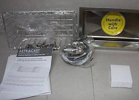 Мойка кухонная Astracast 160 мм х 300 мм под столешницу из нержавеющей стали