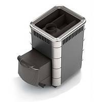 Термофор КОМПАКТ 12 Антрацит - Дровяная печь для бани (6-12 м. куб., 35 кг камней)