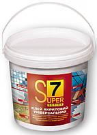 Полипласт S7 - Универсальный акриловый клей для крепления керамической плитки, мозаики и других материал 1,4кг