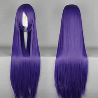Длинные фиолетовые парики - 100см, прямые волосы, косплей, анимэ