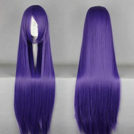 Длинные фиолетовые парики - 100см, прямые волосы, косплей, анимэ, фото 2
