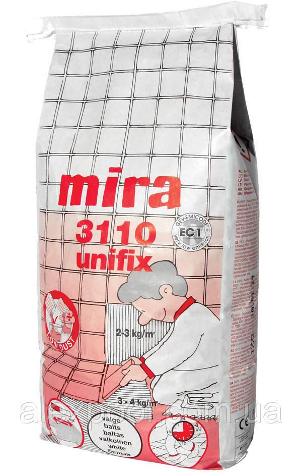 Mira 3110 unifix - Эластичный высокоадгезивный клей для плитки. C2TE S1 Белый 5 кг