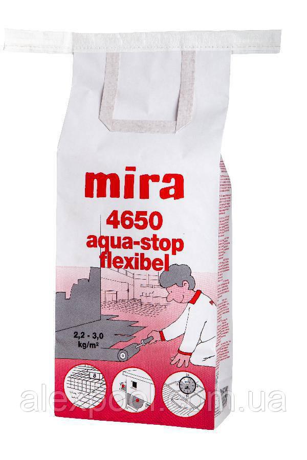 Mira 4650 aqua-stop flexibel  - Защита бетона и кладки от влаги и воды. CMP, 12,5 кг