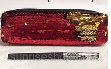 Косметичка- пенал бочонок пайетки опт и розница, фото 2