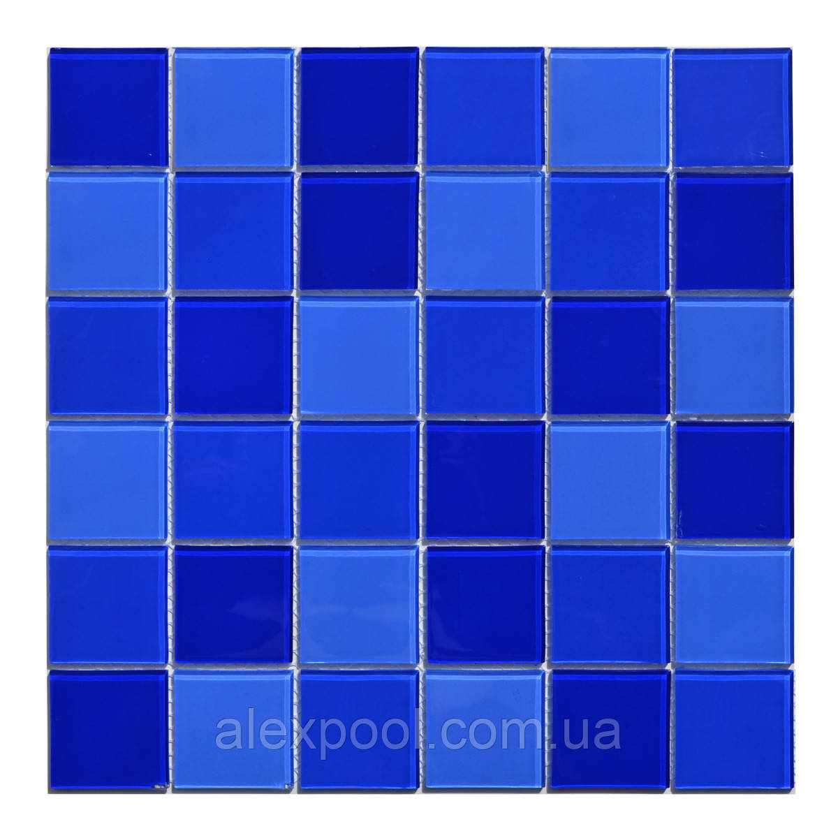 Мозаика стеклянная Aquaviva Cristall Dark Blue DCM306