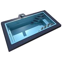 Композитний басейн Lagos Sol 7 - 7м*3.4 м*1.55 м, колір - блакитний
