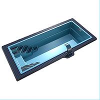 Композитний басейн Lagos Sol 8 - 8м*3.4 м*1.55 м, колір - блакитний