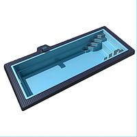 Композитний басейн Lagos Sol X - до 17 м, колір - блакитний