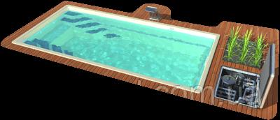 Био Бассейн Lagos SolBIO 7 Оборудование стандарт - Композитный экобассейн без химических реагентов 7 × 3,4 м