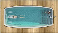Композитный керамический бассейн Luxe Pools Nakuru  - Размер  7х3.3х1.5м