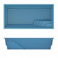 Композитный керамический бассейн COMPASS POOLS AQUA 53 - 5,3 X 3,2 X 1,5 М