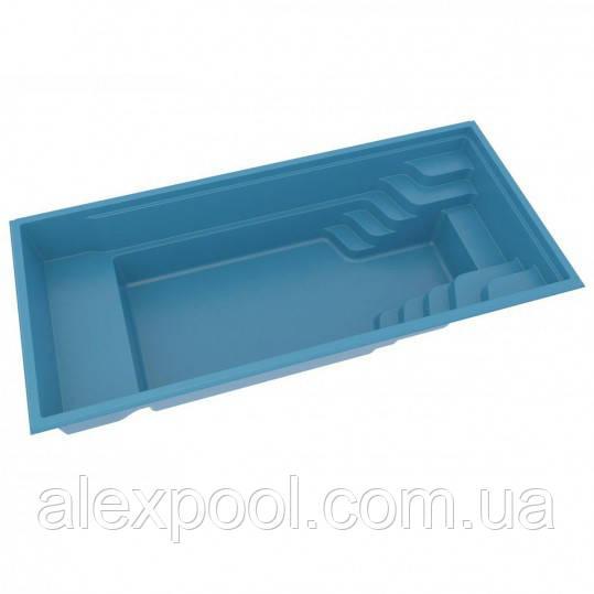 Композитный керамический бассейн COMPASS POOLS XL-TRAINER 72 FB - 7,21 X 3,30 X 1,51 М