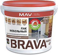 Лак MAV BRAVA ACRYL 41 мебельный Бесцветный полуглянцевый 1 литр
