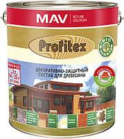 Состав MAV PROFITEX декоративно-защитный для древесины Белый 10 литров