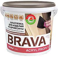 Шпатлевка MAV BRAVA ACRYL PROFI-1 водно-дисперсионная акриловая по дереву Белая 20 литров