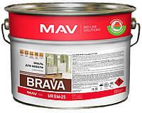Эмаль MAV BRAVA UR EM-25 для мебели белая быстросохнущая 20 литров