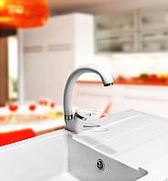 Смеситель для кухонной гранитной мойки  Premierа-40 DX белый «ВСЕ ЦВЕТА»
