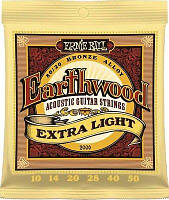 Струны для акустики Ernie Ball 2006 Earthwood Bronze Extra Light Acoustic Guitar Strings 10-50