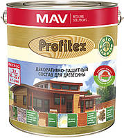 Состав MAV PROFITEX декоративно-защитный для древесины Мореный дуб 10 литров
