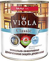 Лак алкидный MAV VIOLA Classic HT 30 защитно-декоративный без запаха для древесины Барбарис 1 литр