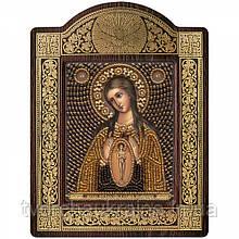 """Набір для вишивки ікони в рамці-кіоті """"Ікона Прсв. Богородиці «У пологах помічниця»"""
