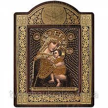 """Набір для вишивки ікони в рамці-кіоті """"Ікона Прсв. Богородиці """"Розпачливих Єдина Надія"""""""