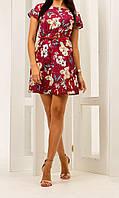 Платье с цветочным принтом/ бабочками женское (супер софт)