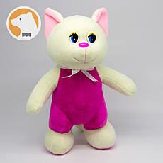 Кошечка игривая в розовом комбинезоне мягкая игрушка
