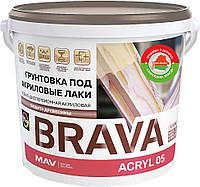 Акриловая грунтовка для дерева MAV BRAVA ACRYL 05 под акриловые лаки Бесцветная 11 литров