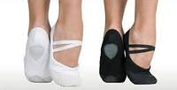 Балетки легкие тапочки для танцев и занятий спортом цвета черный и белый размеры 24-43